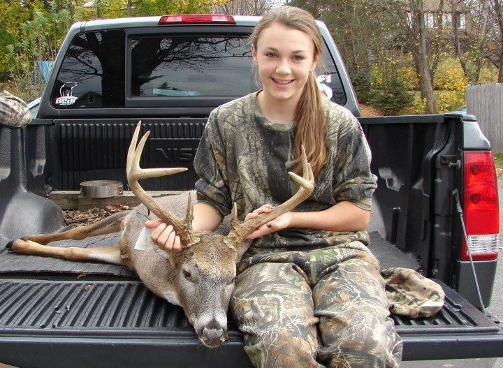 "North American Hunting Club Life Member Mike Primm rattled in the 4x4 buck below for his 14-year-old daughter Bali.  Make sure you congratulate Bali on her first archery buck by clicking ""Like"" and sharing her photo."