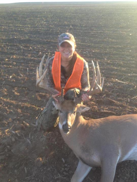 Wow, check out this big Missouri buck NAHC member Dani Thornton shot on opening day of the rifle season. She dropped him 93 yards from her blind. Great job Dani! 