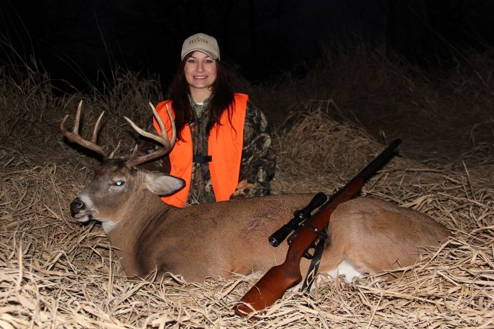 Take a look at the dandy buck Lindsay shot with the help of her boyfriend, NAH web editor Josh Dahlke. It also happens to be her first deer.  Nice job Lindsay!