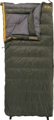 Camp and Hike Built for cold-weather overnight excursions, the extremely packable Escapist sleeping bag remains lightweight enough for backcountry treks. Rectangular construction allows restless sleepers freedom to move. 550-fill-power down retains warmth in frigid temperatures. Polyester microripstop shell. Comes with polyester carry bag. Imported. Temperature rating: 0F. - $209.88