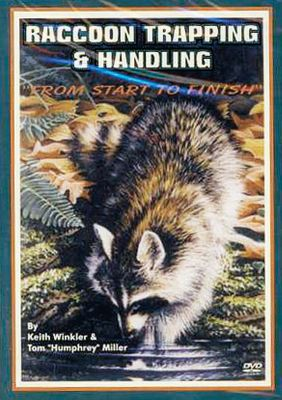 Hunting Learn tips, tricks and techniques from professional trappers Keith Winkler and Tom Miller as they explain trap preparation, sets and catches on their raccoon line. Also includes proper skinning, fleshing and stretching methods. Guest appearances from professional trappers provide even more insight, along with a segment on using snares. 120 minutes. - $25.88