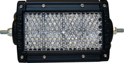 Fitness Rigid Industries off-road LED lighting will change the way you see the trail. 4 E-Series Light Bar features eight efficient LEDs that turn on instantly without having to warm up, produce an incredible 3,000 lumens and have a super-long 50,000-hour life span. Versatile mounting hardware works with ATVs, UTVs, trucks, motorcycles, boats, you name it perfect for any off-road excursion. Rugged two-piece housing is shock-, dust- and water-resistant. Tough polycarbonate lens. Built-in thermal management and Gore Pressure Equalizing Vent. RoHS compliant. Includes plug-and-play harness, switch, mounting bracket and hardware. Made in USA. Per each. 3.3H x 6.8W x 3.3D. Available: Diffused Spreads a 60 path of light out to 100 yds. Spotlight Focuses a 10 beam out to 730 yds. Size: 4 DIFFUSED. - $223.99