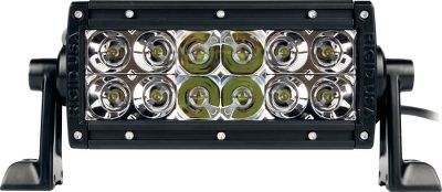 Fitness Revolutionary Rigid Industries off-road LED lighting will change the way you see the trail. Can be used on ATVs, UTVs, trucks, motorcycles and more. Ultraefficient, bright LEDs produce superior light while using a fraction of the power required to run traditional bulbs. 12 LEDs put out a blinding 2,370 lumens on 1.77-amp draw (25.5 watts). They handle the rigors of off-roading thanks to an unbreakable polycarbonate lens, waterproof, shock- and vibration-resistant construction and a 6063-aluminum extrusion with a durable, UV-resistant polyester powder coating. No warm up is required they instantly power on and off and have a 50,000-hour lifespan. Over- and under-voltage protection Broad temperature range of -40F to 145F. IP68-certified and MIL810-STDG vibration-certified. RoHS compliant. Includes plug-and-play wiring harness with switch, two mounting brackets and mounting hardware. Made in USA. Dimensions: 3.25H x 9W x 3.75D. Available: Spotlight/Floodlight Combo 20 beam on flood mode; 10 beam on spotlight mode. 458-meter beam distance. 60 Diffused Light 329-meter beam distance. Size: 6 60 DEG. - $284.99