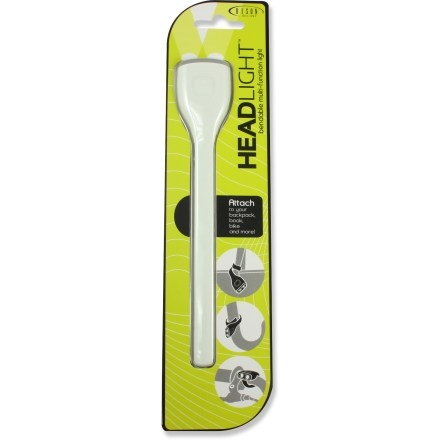 "Entertainment The Bison Designs Head Light flashlight sports a long, bendable ""tail,"" making it easy to attach to your backpack or bike. Twin LEDs offer bright, white light. The Bison Designs Head Light flashlight features steady and strobe light modes. - $9.93"