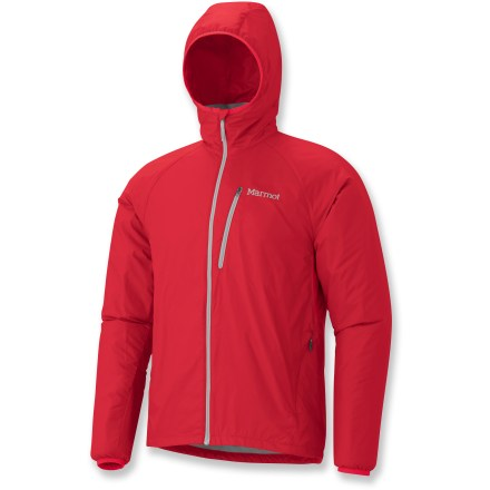 The Marmot Ether DriClime(R) Windshirt offers cozy, wind-blocking warmth. This versatile jacket includes a hood for extra protection from the elements. - $56.83
