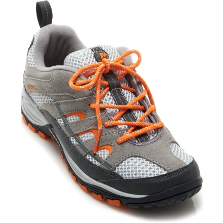 Camp and Hike The Merrell Chameleon 4 Ventilator Hiking shoes offer boys trail-ready shoes that are equally at home on the playground. - $40.93
