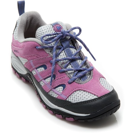 Camp and Hike The Merrell Chameleon 4 Ventilator Hiking shoes offer girls all-terrain versatility to match their adventurous jaunts. - $12.83