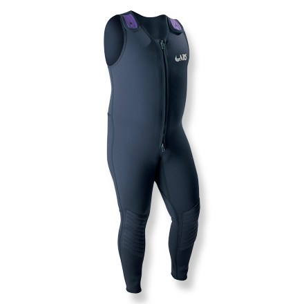 Kayak and Canoe Farmer John-style wetsuit offers more room for big, barrel-chested guys and has a unique shoulder design that allows easier entry. - $144.95