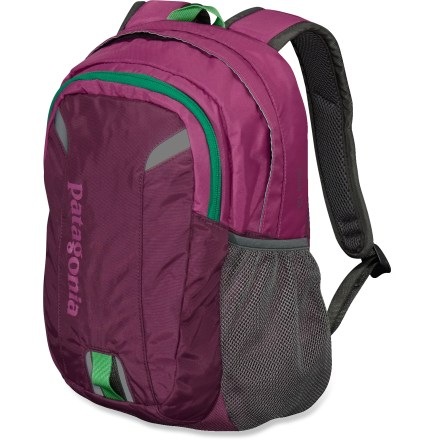 Camp and Hike Whether she wants to carry gear to school or on her favorite trails, the Patagonia Poco 12L backpack is perfectly sized to fit her needs, smoothing her path to a fantastic adventure. Main compartment easily stores a lunch and stashes a jacket; zippered front pocket features 2 organization compartments and a key clip. Padded shoulder straps and back panel offer support and comfort; plastic loop and daisy chains on shoulder straps offer attachment points. Mesh side pocket stores a water bottle. Reflective details on the Patagonia Poco 12L girls' backpack increase visibility in low light. Made of 420-denier ripstop nylon for toughness and durability; Poco 12L pack fabrics have been treated with a Durable Water Repellent finish for weather protection. Closeout. - $26.93