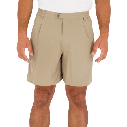Surf The Royal Robbins Billy Goat nylon canvas shorts are built tough to handle any outdoor adventure. Nylon canvas fabric is extremely durable and quick drying. Fabric provides UPF 50+ sun protection, shielding skin from harmful ultraviolet rays. Zip fly with snap closure. Royal Robbins Billy Goat shorts feature hand pockets and 2 back pockets. Closeout. - $34.93