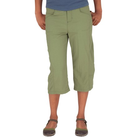 Camp and Hike Perfect for wading through tidepools or hiking your favorite trails, the Royal Robbins Cabo Digger capris offer lightweight coverage that never holds you back. Lightweight, breathable nylon fabric dries quickly so you can wash and wear again in no time. Integrated UPF 30 sun protection continuously guards against harmful ultraviolet rays, protecting your skin no matter how long your day lasts. Royal Robbins Cabo Digger capris feature hand pockets and 2 rear pockets with rip-and-stick flap closures. Closeout. - $39.73
