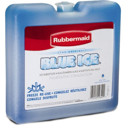 Camp and Hike The Rubbermaid Blue Ice Weekender pack is a nice substitute for ice, and it can be frozen again and again for use in coolers. - $2.95
