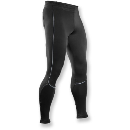 Fitness Churn out the miles in the Sugoi MidZero Zap tights. They're built for cold-weather workouts and help keep you dry and comfortable. MidZero fabric is a supportive, moisture-wicking, midweight base layer with fleece on the inside for amazing comfort and warmth. Features a flat drawstring waist, 7 in. ankle zippers with elastic grippers and a rear zippered pocket. Flatlock seams reduce abrasion, bolster muscle support and ensure a streamlined look and feel. Abundant reflective detailing on legs maximizes visibility in low light. Closeout. - $62.93