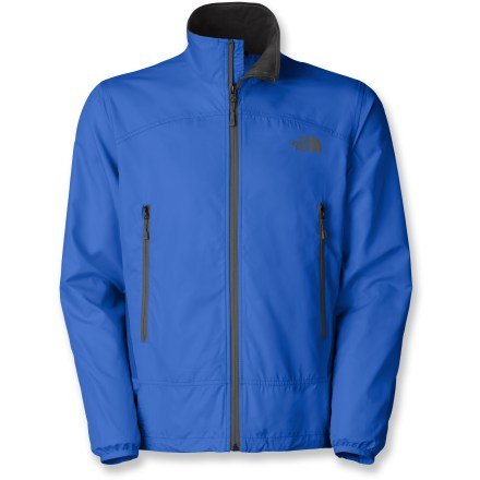 Climbing The North Face Darkwind Shell jacket for men is two-faced, but we mean that in a good way. Wind-resistant front and highly breathable back work to promote comfort when climbing with a pack. Tightly woven recycled polyester with a Durable Water Repellent finish blocks wind and sheds water. TNF(R) Apex Aerobic fabric on back promotes breathability in the areas a pack normally covers; additional DWR finish fends off rain when worn alone. 2 zippered front pockets secure small essentials and sit high on torso for pack and harness compatibility. The North Face Darkwind Shell jacket features a hidden cinch cord accessed via the pockets for a snug, personalized fit. - $55.93