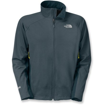 The North Face Alpine Project Hybrid jacket for men blends tough weather resistance with a soft shell's versatility. Don't be surprised if you find yourself looking for any excuse to stay outside. - $84.83