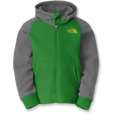 The North Face Glacier Full-Zip hoodie makes toddlers look effortlessly cool and irresistably cute while keeping them warm and cozy. Lightweight polyester fleece is durable and pill-resistant. 2 front hand pockets; full-length zipper. - $35.00