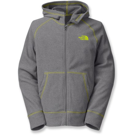 The Glacier Full-Zip hoodie for boys offers athletic style and practical protection against the cold with cozy fleece, a full hood and a comfortable fit. - $45.00