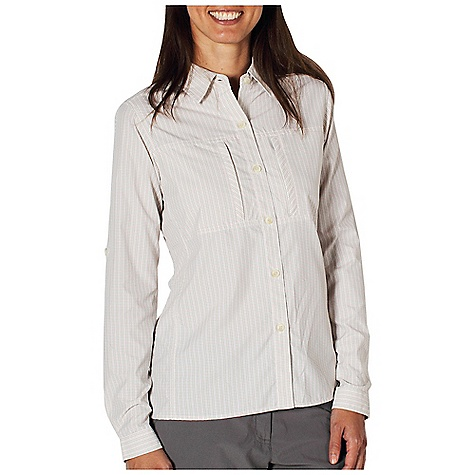 Free Shipping. Ex Officio Women's Drylite Check Shirt DECENT FEATURES of the Ex Officio Women's Drylite Check Shirt Button front placket Two napoleon security zip chest pockets Floramesh lined back yoke ventilation Roll-up sleeve tabs Lightweight: Lightweight fibers make this weigh less than a similar garment Quick Drying: Fibers release moisture easily so garment dries rapidly Sun Guard 30+: Specialized fabric rated with a UPF (Ultraviolet Protection Factor) absorbs and reflects harmful rays, preventing them from damaging your skin Ventilation: Strategically placed vents circulate air to decrease body temperature Moisture Wicking: Fabric moves moisture along the garment's surface away from the skin The SPECS Natural fit Drylite Check 56% Nylon/44% Polyester - $74.95