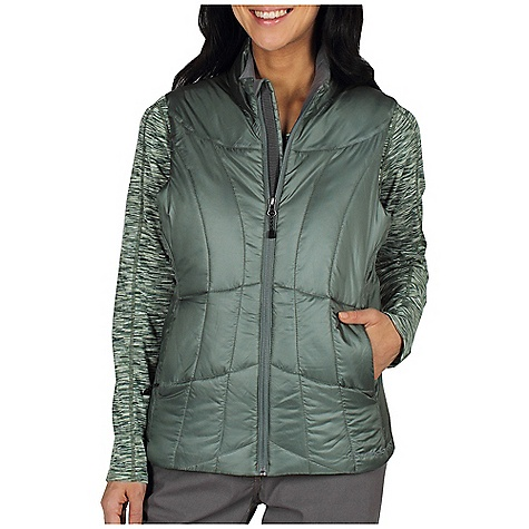 Entertainment Free Shipping. Ex Officio Women's Storm Logic Vest DECENT FEATURES of the Ex Officio Women's Storm Logic Vest Security zip chest pocket Travel pocket system Converts to travel pillow Insulated DWR Floating pocket loop 2nd Layer fit The SPECS High Warmth to Weight: The warmth of the garment is very high for the weight of the fabric Lightweight: Lightweight fibers make this weigh less than a similar garment Windproof: Fabric is treated or woven tightly to create a barrier from wind Water Resistant: Lightly coated with polyurethane to resist the penetration of water Fabric: Storm Logic Risptop Shell: 100% Polyester Insulation: Prima loft Sport - $119.95