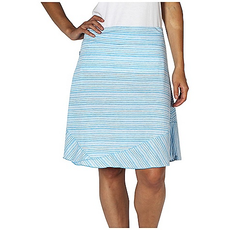 Free Shipping. Ex Officio Women's Go To Stripe Skirt DECENT FEATURES of the Ex Officio Women's Go To Stripe Skirt Security zipper pocket Stretch: Stretch fabric provides maximum mobility and comfort during activity Odor Resistant: Resists growth of bacteria and fungus that cause odors Quick drying: Fibers release moisture easily so garment dries rapidly Wicking: Fabric moves moisture along the garment's surface away from the skin The SPECS Natural fit DriRelease Go/To Stripe 85% Polyester/15% Cotton - $64.95