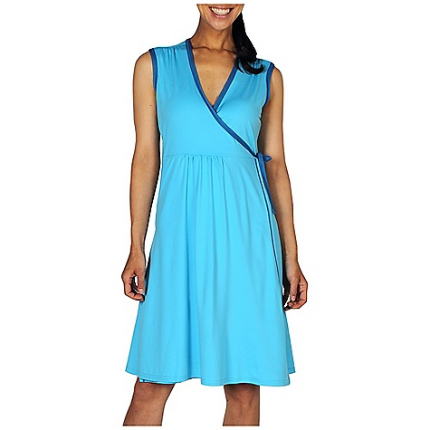 Entertainment Free Shipping. Ex Officio Women's Sol Cool Wrap Dress DECENT FEATURES of the Ex Officio Women's Sol Cool Wrap Dress Flatlock stitching Tagless label for added comfort Security zipper pocket Quick Drying: Fibers release moisture easily so garment dries rapidly Stretch: Stretch fabric provides maximum mobility and comfort during activity Sun Guard 50+: Specialized fabric rated with a UPF (Ultraviolet Protection Factor) absorbs and reflects harmful rays, preventing them from damaging your skin Moisture Wicking: Fabric moves moisture along the garment's surface away from the skin Lightweight: Lightweight fibers make this weigh less than a similar garment Odor Resistant: Resists growth of bacteria and fungus that cause odors The SPECS Natural fit Sol Cool Jersey 91% Polyester / 9% Spandex Length: 38in. - $69.95