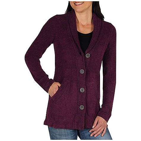 Free Shipping. Ex Officio Women's Vona Cardigan DECENT FEATURES of the Ex Officio Women's Vona Cardigan Button front placket Contrast color details Hand pockets Natural fit The SPECS Soft: This fabric has a nice feel and is soft on skin Wrinkle Resistant: Fiber weave recovers quickly from folding and creasing and releases wrinkles without heat Wool: This fabric has wool content for extra warmth Thermal: Effectively retains body heat Lightweight: Lightweight fibers make this weigh less than a similar garment Fabric: Vona Blend, 67% Nylon, 17% Rayon, 16% Wool - $119.95