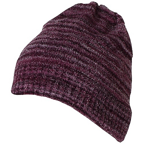 Ex Officio Women's Irresistible Neska Stripe Beanie The SPECS Lightweight: Lightweight fibers make this weigh less than a similar garment Soft: This fabric has a nice feel and is soft on skin Thermal: Effectively retains body heat Wrinkle Resistant: Fiber weave recovers quickly from folding and creasing and releases wrinkles without heat Fabric: Chenille Feather Fleece, 95% Nylon, 5% Spandex - $31.95