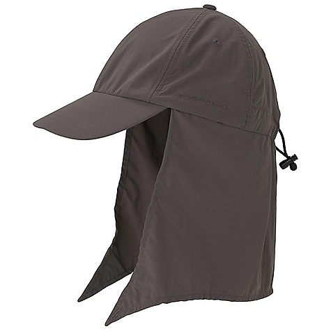 Ex Officio BugsAway Cape Hat DECENT FEATURES of the Ex Officio Bugsaway Cape Hat Classic styling Glare reduction under brim Fold away contoured cape Cape keeper button The SPECS Anti-Insect: Insect Shield finish to repel flies, ticks, mosquitoes, chiggers, midges, and ants Sun Guard 30+: Specialized fabric rated with a UPF (Ultraviolet Protection Factor) absorbs and reflects harmful rays, preventing them from damaging your skin Quick Drying: Fibers release moisture easily so garment dries rapidly Lightweight: Lightweight fibers make this weigh less than a similar garment Fabric: Nycott, 100% Nylon - $34.95