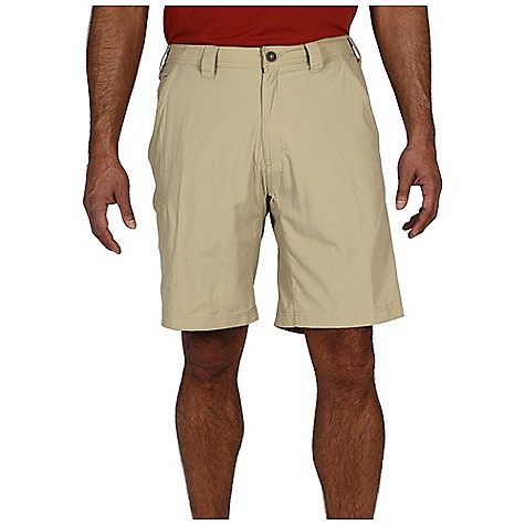 Free Shipping. Ex Officio Men's Nomad Short DECENT FEATURES of the Ex Officio Men's Nomad Short Full inseam gusset Partial elastic waist Security zip back pocket Security zip leg pocket Drop-in cell pocket Lightweight: Lightweight fibers make this weigh less than a similar garment Sun Guard 30+: Specialized fabric rated with a UPF (Ultraviolet Protection Factor) absorbs and reflects harmful rays, preventing them from damaging your skin Quick Drying: Fibers release moisture easily so garment dries rapidly Stain Resistant: Resists the penetration of stains, making it easier to blot or launder Water Resistant: Lightly coated with polyurethane to resist the penetration of water The SPECS Relaxed fit Nycott 100% Nylon Inseam: 10in. - $59.95