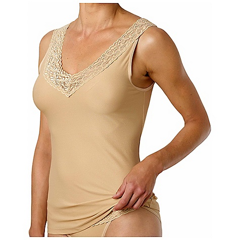 Surf Ex Officio Women's Give-N-Go Lacy Tank The SPECS Slim fit Give/N/Go Stretch 94% Nylon 6% Lycra Spandex - $31.95
