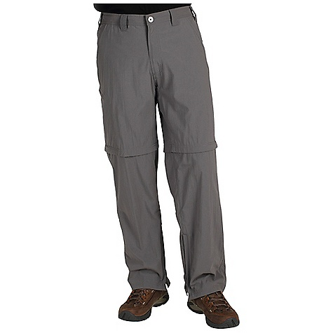 Free Shipping. Ex Officio Men's Nomad Convertible Pant DECENT FEATURES of the Ex Officio Men's Nomad Convertible Pant Full inseam gusset Partial elastic waist Security zip back pocket Security zip leg pocket Drop-in cell pocket Convertible Lightweight: Lightweight fibers make this weigh less than a similar garment Sun Guard 30+: Specialized fabric rated with a UPF (Ultraviolet Protection Factor) absorbs and reflects harmful rays, preventing them from damaging your skin Quick Drying: Fibers release moisture easily so garment dries rapidly Stain Resistant: Resists the penetration of stains, making it easier to blot or launder Water Resistant: Lightly coated with polyurethane to resist the penetration of water The SPECS Relaxed fit Inseam: short: 30in., regular: 32in. Nycott 100% Nylon - $74.95