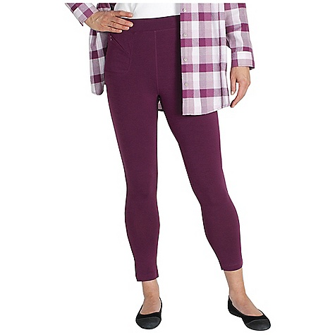 Ex Officio Women's Go-To Legging DECENT FEATURES of the Ex Officio Women's Go/To Legging Dri/Release knit Security zipper pocket Tagless label for added comfort Stretch: Stretch fabric provides maximum mobility and comfort during activity Odor Resistant: Resists growth of bacteria and fungus that cause odors Quick drying: Fibers release moisture easily so garment dries rapidly Wicking: Fabric moves moisture along the garment's surface away from the skin The SPECS Slim fit DriRelease Go/To 81% Polyester/14% Cotton/5% Spandex - $44.95