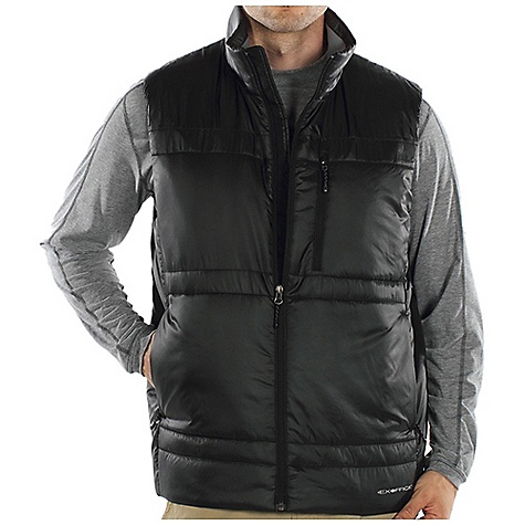 Entertainment Free Shipping. Ex Officio Men's Storm Logic Vest DECENT FEATURES of the Ex Officio Men's Storm Logic Vest 4 Exo Travel System pockets Converts to travel pillow 20 denier - feather weight polyester microfiber mini ripstop shell Exo DWR finish for water resistance The SPECS High Warmth to Weight: The warmth of the garment is very high for the weight of the fabric Water Resistant: Lightly coated with polyurethane to resist the penetration of water Wind Resistant: Fabric is treated or woven tightly to create a barrier from wind Thermal: Effectively retains body heat Soft: This fabric has a nice feel and is soft on skin Lightweight: Lightweight fibers make this weigh less than a similar garment Security Zip Pocket: Pocket with a zipper closure to keep belongings safe Fabric: Shell / Lining: 100% Polyester, Insulailon: PrimaLoft One - $119.95