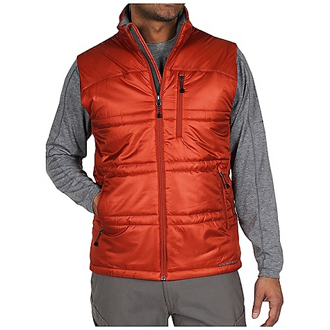 Entertainment Free Shipping. Ex Officio Men's Storm Logic Vest DECENT FEATURES of the Ex Officio Men's Storm Logic Vest Security zip chest pocket Travel pocket system Converts to travel pillow Insulated DWR Floating pocket loop 2nd Layer fit The SPECS High Warmth to Weight: The warmth of the garment is very high for the weight of the fabric Lightweight: Lightweight fibers make this weigh less than a similar garment Water Resistant: Lightly coated with polyurethane to resist the penetration of water Windproof: Fabric is treated or woven tightly to create a barrier from wind Fabric: Storm Logic Rip stop Shell: 100% Polyester Insulation: Prim aloft Sport - $119.95