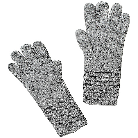 Ex Officio Women's Vona Glove The SPECS Lightweight: Lightweight fibers make this weigh less than a similar garment Soft: This fabric has a nice feel and is soft on skin Thermal: Effectively retains body heat Wool: This fabric has wool content for extra warmth Wrinkle Resistant: Fiber weave recovers quickly from folding and creasing and releases wrinkles without heat Fabric: Vona Blend, 67% Nylon, 17% Rayon, 16% Wool - $31.95