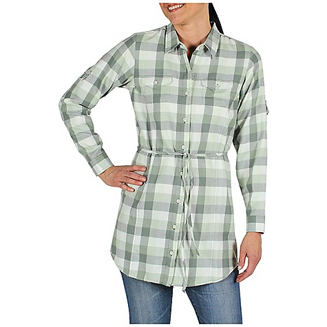 Free Shipping. Ex Officio Women's Pocatello Plaid Tunic DECENT FEATURES of the Ex Officio Women's Pocatello Plaid Tunic Side zip security pocket Roll-up sleeve tabs Locker loop Floating pocket loop Natural fit The SPECS Lightweight: Lightweight fibers make this weigh less than a similar garment Peach Finish: Surface brushed making fabric softer and more resistant to wrinkles Length: 34in. Fabric: Pocatello Plaid, 60% Cotton, 40% Polyester - $69.95