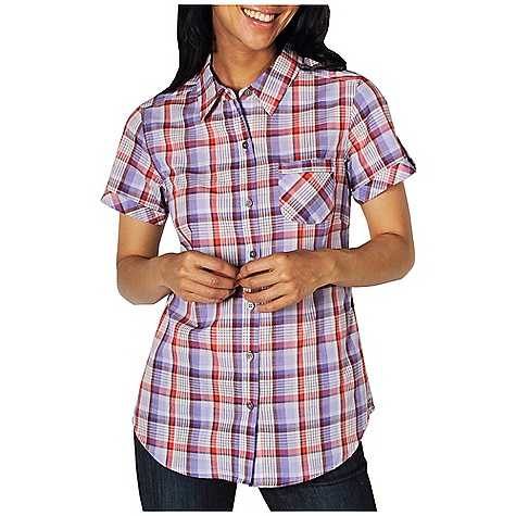 Free Shipping. Ex Officio Women's Kamili Plaid S-S Top DECENT FEATURES of the Ex Officio Women's Kamili Plaid Short Sleeve Top Button front placket Lightweight: Lightweight fibers make this weigh less than a similar garment The SPECS Natural fit CVC Slub Plaid 60% Cotton/40% Polyester - $54.95