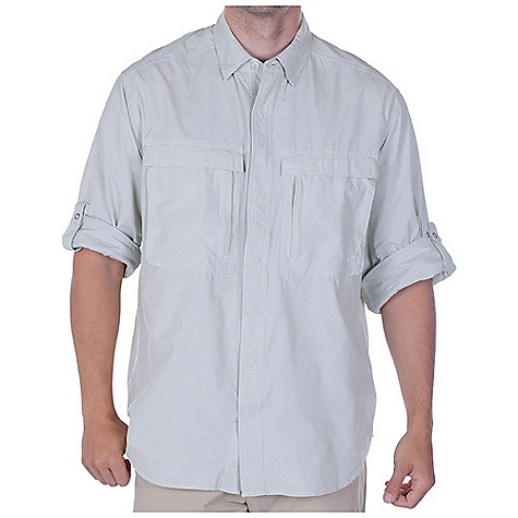 Free Shipping. Ex Officio Men's BugsAway Halo Check Top DECENT FEATURES of the Ex Officio Men's BugsAway Halo Check Top Ring snap closure Security zip napoleon pocket Hidden snap down collar Back panel ventilation Roll-up sleeve tabs Anti-Insect: Insect Shield finish to repel flies, ticks, mosquitoes, chiggers, midges, and ants Lightweight: Lightweight fibers make this weigh less than a similar garment Sun Guard 30+: Specialized fabric rated with a UPF (Ultraviolet Protection Factor) absorbs and reflects harmful rays, preventing them from damaging your skin Quick Drying: Fibers release moisture easily so garment dries rapidly Ventilation: Strategically placed vents circulate air to decrease body temperature Moisture Wicking: Fabric moves moisture along the garment's surface away from the skin The SPECS Natural fit Halo Check 100% Nylon - $98.95
