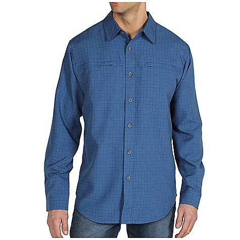 Free Shipping. Ex Officio Men's Trifecta Check L-S DECENT FEATURES of the Ex Officio Men's Trifecta Long Sleeve Check Security zip chest pocket Back knife pleats for added mobility Locker loop Floating pocket loop Natural fit The SPECS Wrinkle Resistant: Fiber weave recovers quickly from folding and creasing and releases wrinkles without heat Quick Drying: Fibers release moisture easily so garment dries rapidly Sun Guard 30+: Specialized fabric rated with a UPF (Ultraviolet Protection Factor) absorbs and reflects harmful rays, preventing them from damaging your skin Lightweight: Lightweight fibers make this weigh less than a similar garment Moisture Wicking: Fabric moves moisture along the garment's surface away from the skin Fabric: Wrinkle release check, 100% Polyester - $69.95