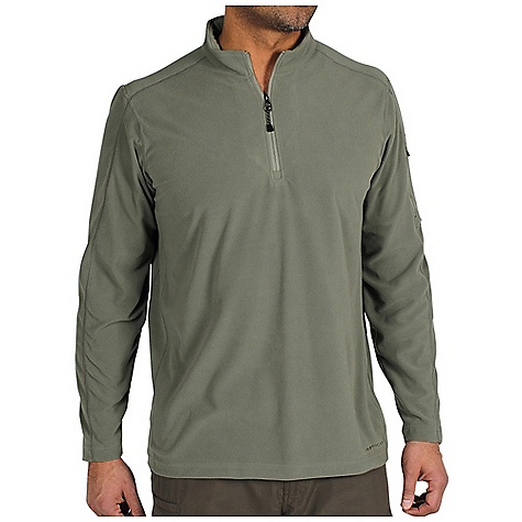 Free Shipping. Ex Officio Men's Migrator 1-4 Zip DECENT FEATURES of the Ex Officio Men's Migrator 1/4 Zip Security zip sleeve pocket Flat lock stitching Tag less label for added comfort Forward facing shoulder seams Floating pocket loop Natural fit The SPECS Thermal: Effectively retains body heat Moisture Wicking: Fabric moves moisture along the garment's surface away from the skin Fabric: Recycled Micro Fleece, 68% Recycled Polyester, 32% Polyester - $69.95