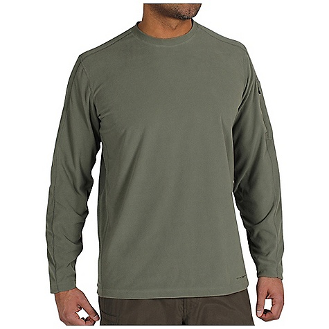 Free Shipping. Ex Officio Men's Migrator Crew L-S DECENT FEATURES of the Ex Officio Men's Migrator Long Sleeve Crew Security zip sleeve pocket Flat lock stitching Tag less label for added comfort Forward facing shoulder seams Floating pocket loop Natural fit The SPECS Thermal: Effectively retains body heat Moisture Wicking: Fabric moves moisture along the garment's surface away from the skin Fabric: Recycled Micro Fleece, 68% Recycled Polyester, 32% Polyester - $64.95