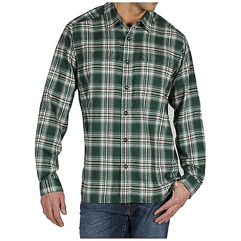 Free Shipping. Ex Officio Men's Trailing Off Micro Plaid Flannel L-S DECENT FEATURES of the Ex Officio Men's Trailing Off Micro Plaid Long Sleeve Flannel Security zip chest pockets Back knife pleats for added mobility Locker loop Floating pocket loop Natural fit The SPECS Lightweight: Lightweight fibers make this weigh less than a similar garment High Warmth to Weight: The warmth of the garment is very high for the weight of the fabric Quick Drying: Fibers release moisture easily so garment dries rapidly Fabric: Hollow Yarn Micro, 100% Hallow yarn polyester - $79.95