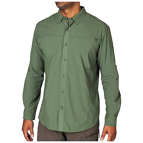 Free Shipping. Ex Officio Men's Dryfly Flex L-S Top DECENT FEATURES of the Ex Officio Men's Dryfly Flex Long Sleeve Top Button front placket Security zip pocket Back yoke ventilation Roll-up sleeve tab Locker loop Sun Guard 50+: Specialized fabric rated with a UPF (Ultraviolet Protection Factor) absorbs and reflects harmful rays, preventing them from damaging your skin Quick Drying: Fibers release moisture easily so garment dries rapidly Moisture Wicking: Fabric moves moisture along the garment's surface away from the skin Stretch: Stretch fabric provides maximum mobility and comfort during activity Ventilation: Strategically placed vents circulate air to decrease body temperature The SPECS Natural fit Dryflex T400 68% Nylon 32% Polyester - $89.95