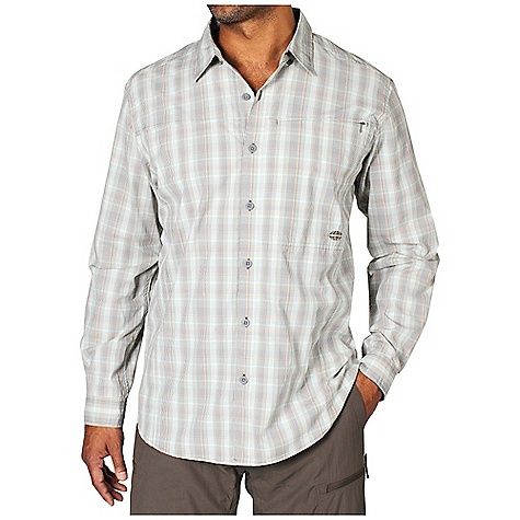 Free Shipping. Ex Officio Men's Dryfly Flex Midi Plaid L-S Top DECENT FEATURES of the Ex Officio Men's Dryfly Flex Midi Plaid Long Sleeve Top Button front placket Security zip pocket Back yoke ventilation Roll-up sleeve tab Locker loop Sun Guard 50+: Specialized fabric rated with a UPF (Ultraviolet Protection Factor) absorbs and reflects harmful rays, preventing them from damaging your skin Quick Drying: Fibers release moisture easily so garment dries rapidly Moisture Wicking: Fabric moves moisture along the garment's surface away from the skin Stretch: Stretch fabric provides maximum mobility and comfort during activity Ventilation: Strategically placed vents circulate air to decrease body temperature The SPECS Natural fit Dryflex Midi T400 Plaid 58% Nylon/42% Polyester - $89.95