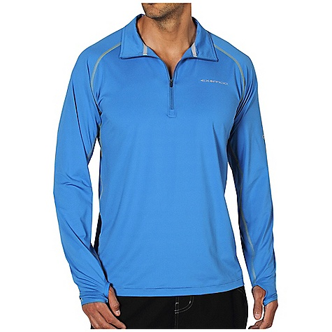Free Shipping. Ex Officio Men's Sol Cool Sailfish 1-4 Zip L-S Top DECENT FEATURES of the Ex Officio Men's Sol Cool Sailfish 1/4 Zip Long Sleeve Top Under arm sleeve gusset Flatlock stitching Tagless label for added comfort Raglan sleeve Thumb loop Antimicrobial Lightweight: Lightweight fibers make this weigh less than a similar garment Quick Drying: Fibers release moisture easily so garment dries rapidly Odor Resistant: Resists growth of bacteria and fungus that cause odors Stretch: Stretch fabric provides maximum mobility and comfort during activity Moisture Wicking: Fabric moves moisture along the garment's surface away from the skin Sun Guard 50+: Specialized fabric rated with a UPF (Ultraviolet Protection Factor) absorbs and reflects harmful rays, preventing them from damaging your skin The SPECS Natural fit Sol Cool Jersey 91% Polyester/9% Spandex - $74.95