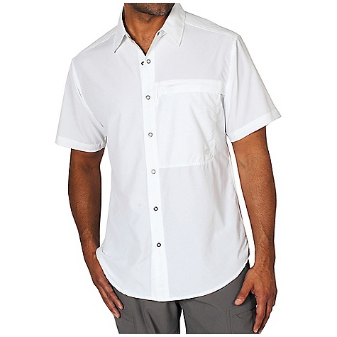 Free Shipping. Ex Officio Men's Trip'r S-S Top DECENT FEATURES of the Ex Officio Men's Trip'r Short Sleeve Top Security zip pocket Ring snap closure Locker Loop Back yoke ventilation Lightweight: Lightweight fibers make this weigh less than a similar garment Sun Guard 40+: Specialized fabric rated with a UPF (Ultraviolet Protection Factor) absorbs and reflects harmful rays, preventing them from damaging your skin Moisture Wicking: Fabric moves moisture along the garment's surface away from the skin Quick Drying: Fibers release moisture easily so garment dries rapidly Ventilation: Strategically placed vents circulate air to decrease body temperature The SPECS Natural fit Dryflylite 80% Nylon / 20% Polyester - $74.95
