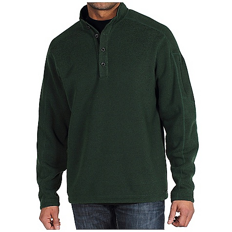 Camp and Hike Free Shipping. Ex Officio Men's Alpental Pullover FEATURES of the Men's Alpental Long Sleeve Pullover Fleece by Ex Officio High-strength clothing ready for your every adventure Indestructible buttons are just another added layer of convenience High warmth-to-weight ratio keeps your warm without weighing you or your pack down Performance blend thermal with a classic ribbed knit exterior, brushed fleece interior, and quick drying fabric to make you feel comfortable Quick drying clothing ensures your comfort Thermal to keep you warm against the elements Collar lined in soft brushed tricot 1/4 placket front closure uses four indestructible buttons Dropped shoulder seams creates less bulk and a smoother fit on top of shoulders, designed for carrying a pack Hidden zippered security sleeve pocket to keep what you need close at hand Security zip pocket for your peace of mind SPECIFICATIONS: Technical Features: High Warmth to Weight, High-Strength, Instructible Button System, Quick Drying, Security Pocket, Thermal Fabric: Ridgeline Fleece - 100% Polyester. Best Uses: Backpacking, Camping, Everyday, Golfing, Hiking, In-Transit, Lounging, Outdoor Work, Resort, Stay Dry, Stay Warm, Urban Explorations Care Instructions: Machine wash cold; wash inside out; wash separately; no bleach; dry flat; do not iron, no steam; dryclean petroleum solvent only - $69.95