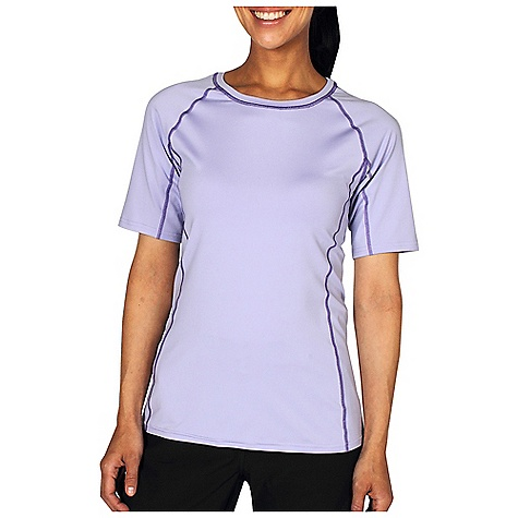 Free Shipping. Ex Officio Women's Sol Cool 1-2 Sleeve Tee DECENT FEATURES of the Ex Officio Women's Sol Cool 1/2 Sleeve Tee Flatlock stitching Tagless label for added comfort Antimicrobia Raglan sleeve Quick Drying: Fibers release moisture easily so garment dries rapidly Stretch: Stretch fabric provides maximum mobility and comfort during activity Sun Guard 50+: Specialized fabric rated with a UPF (Ultraviolet Protection Factor) absorbs and reflects harmful rays, preventing them from damaging your skin Moisture Wicking: Fabric moves moisture along the garment's surface away from the skin Lightweight: Lightweight fibers make this weigh less than a similargarment Odor Resistant: Resists growth of bacteria and fungus that cause odors The SPECS Slim fit Sol Cool Jersey 91% Polyester/9% Spande - $49.95