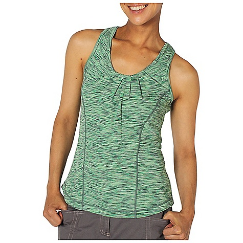 Surf Ex Officio Women's Chica Cool Tank Top DECENT FEATURES of the Ex Officio Women's Chica Cool Tank Top Flatlock stitching Tagless label for added comfort Forward facing shoulder seams Odor Resistant: Resists growth of bacteria and fungus that cause odors Quick drying: Fibers release moisture easily so garment dries rapidly Wicking: Fabric moves moisture along the garment's surface away from the skin Sun Guard 20+: Specialized fabric rated with a UPF (Ultraviolet Protection Factor) absorbs and reflects harmful rays, preventing them from damaging your skin The SPECS Slim fit DriRelease Chica Cool 85% Polyester/15% Cotton - $44.95