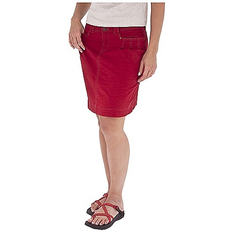 Entertainment On Sale. Free Shipping. Royal Robbins Women's Kick It Skirt DECENT FEATURES of the Royal Robbins Women's Kick It Skirt Tonal stitching details 2 stitch-through back pockets Rivets at center back belt loop The SPECS Regular fit 19in. skirt length Fabric: Billy Goat Stretch Slub Canvas 5 oz 98% Cotton / 2% Spandex Garment washed UPF 50+ - $41.97